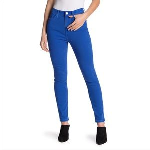 Current/Elliot Blue Ultra High Waist Skinny Jeans